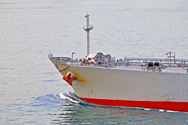 Bogen des Rohöls Ca des Tankers stockbilder