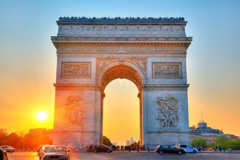 Bogen des Triumphes, Paris, Frankreich lizenzfreie stockfotografie