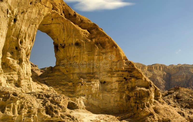 Bogen im Timna Park, Israel lizenzfreies stockbild