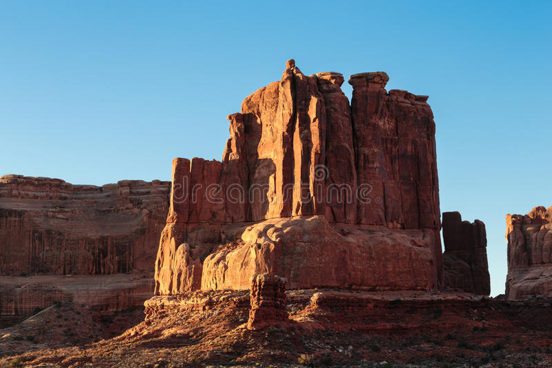 Bogen Nationaal Park - Toneelschoonheid van Utah stock foto's