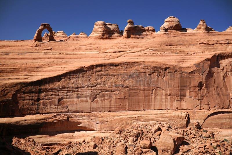 Bogen-Nationalpark in Utah lizenzfreies stockbild