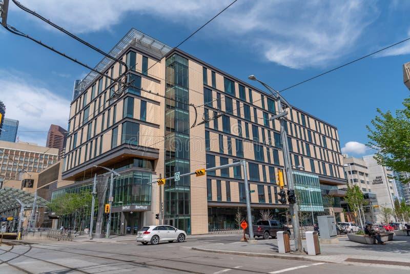 Bogen-Tal-College in Calgary Alberta stockbilder