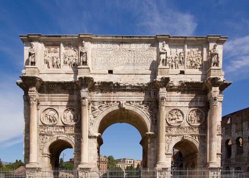 Bogen von Constantine Rom (Italien) lizenzfreie stockfotos
