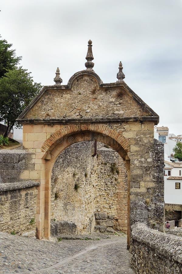 Bogen von Philip V, Ronda, Spanien lizenzfreies stockfoto