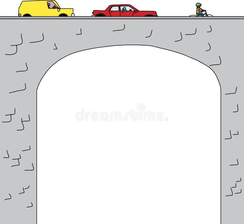 Bogenbrücke stock abbildung