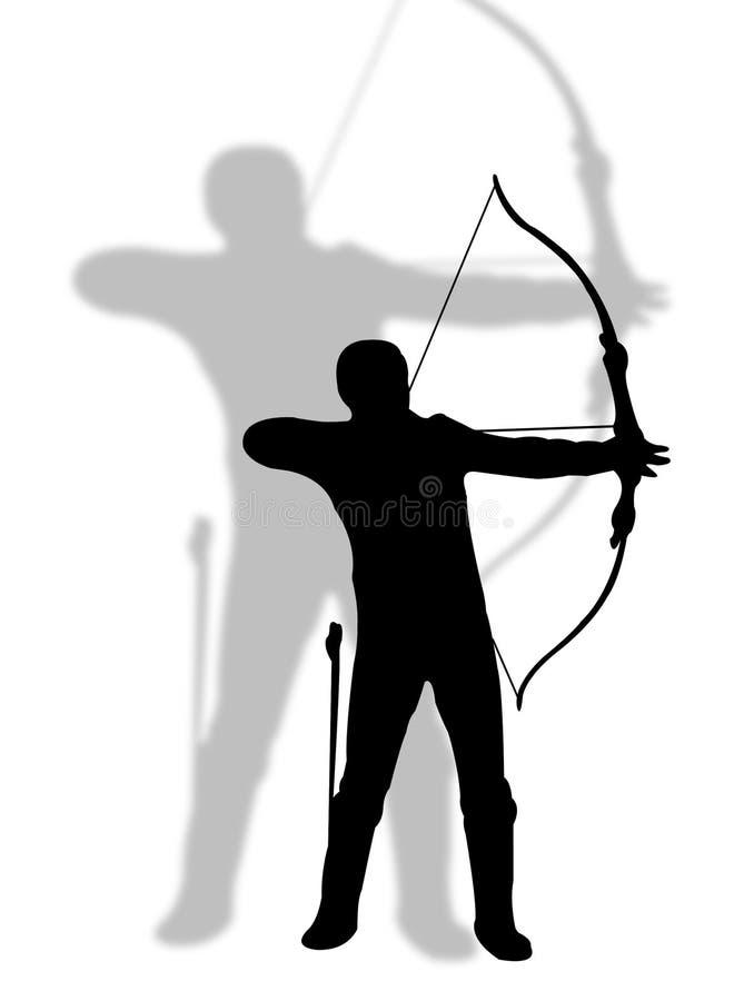 Bogenschütze stock abbildung