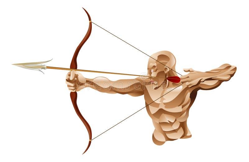 Bogenschütze-Abbildung lizenzfreie abbildung