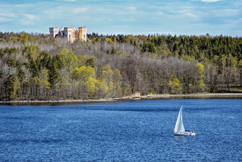 Bogesunds slott,斯德哥尔摩群岛,瑞典地标  免版税图库摄影