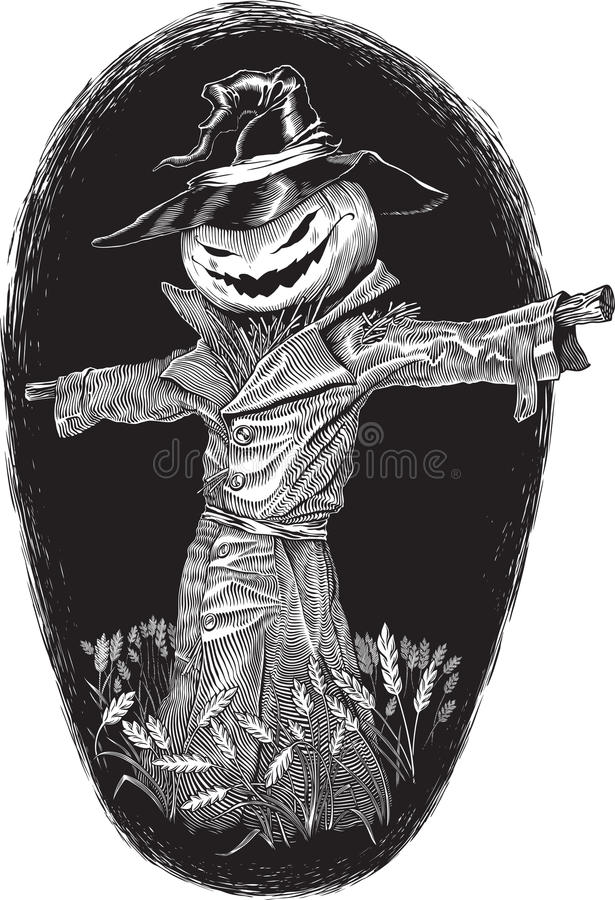 Bogey de Halloween ilustração royalty free