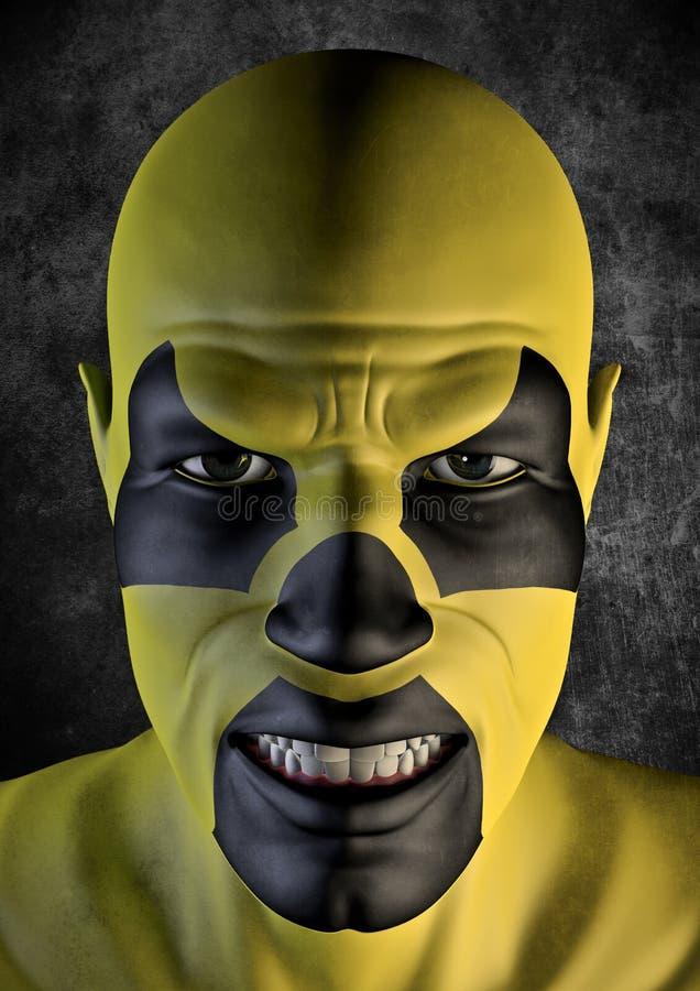 bogeyman πυρηνικός διανυσματική απεικόνιση