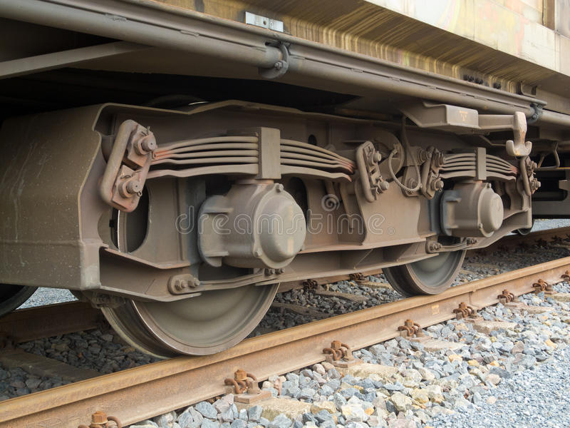Download Bogie of a freight wagon stock image. Image of leaf, construction - 25065935