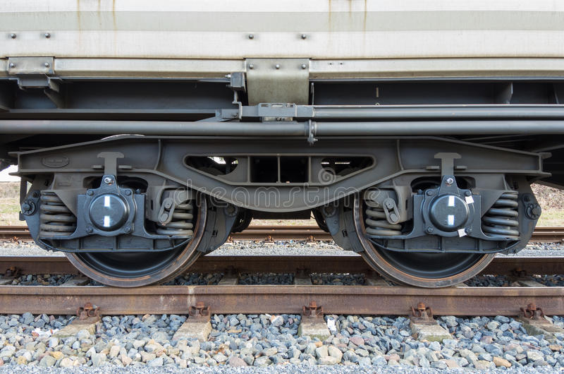 Download Bogie of a freight wagon stock photo. Image of rail, steering - 30342938