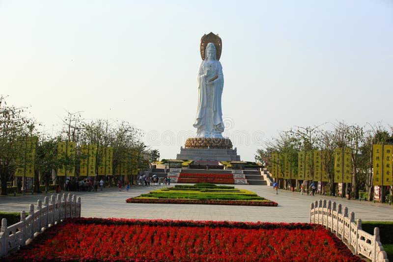 Bogini litości statua przy nadmorski w nanshan świątyni, Hainan wyspa zdjęcie royalty free