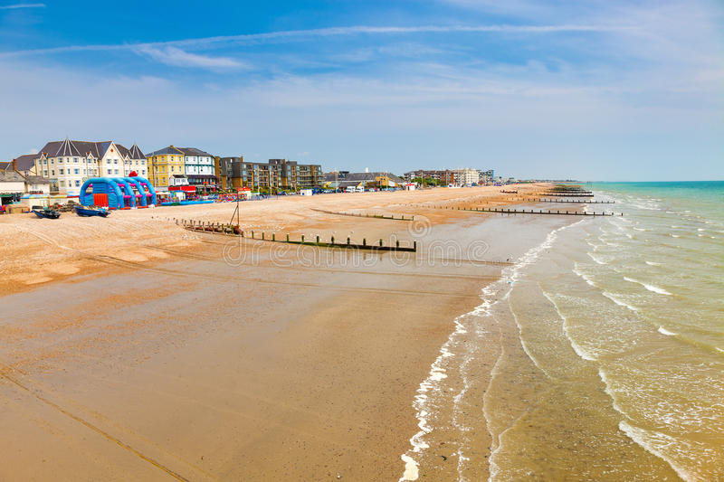 Bognor Regis West Sussex England. View from the Pier at Bognor Regis West Sussex England royalty free stock photos