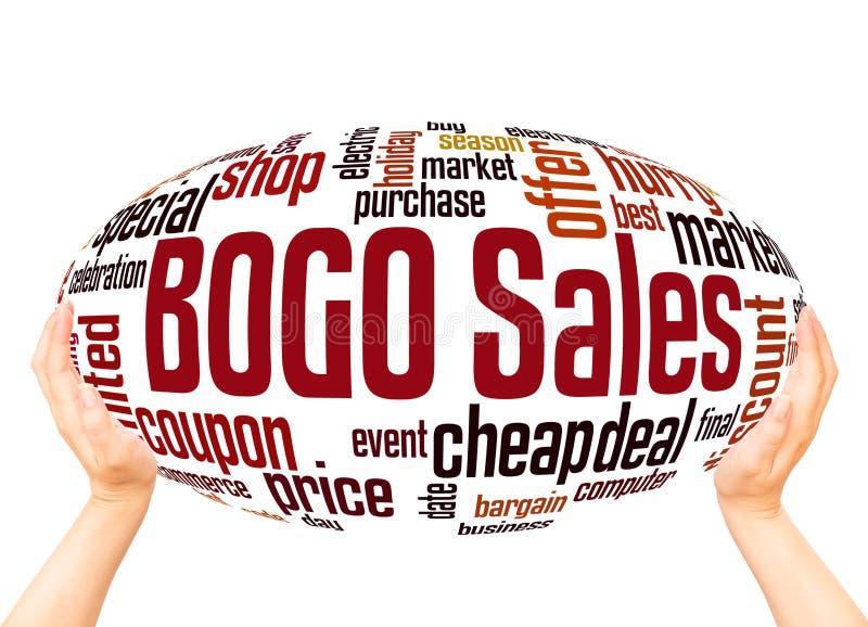 BOGO销售词云彩球形概念 库存例证