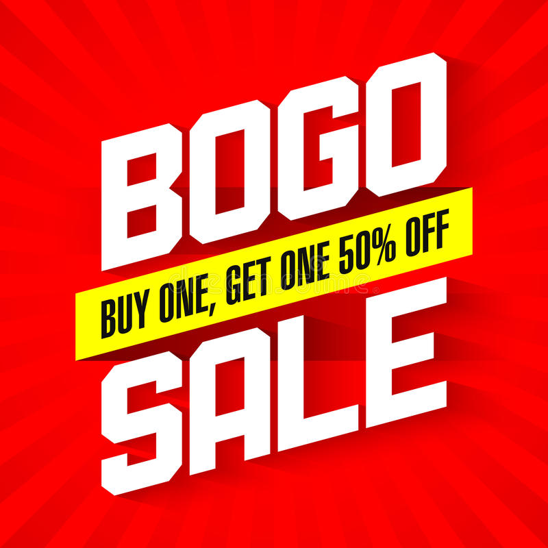 BOGO Sale banner vector illustration