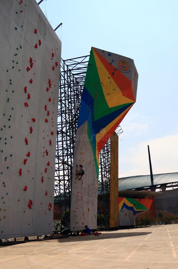 Climbing Walls Bogor royalty free stock photos