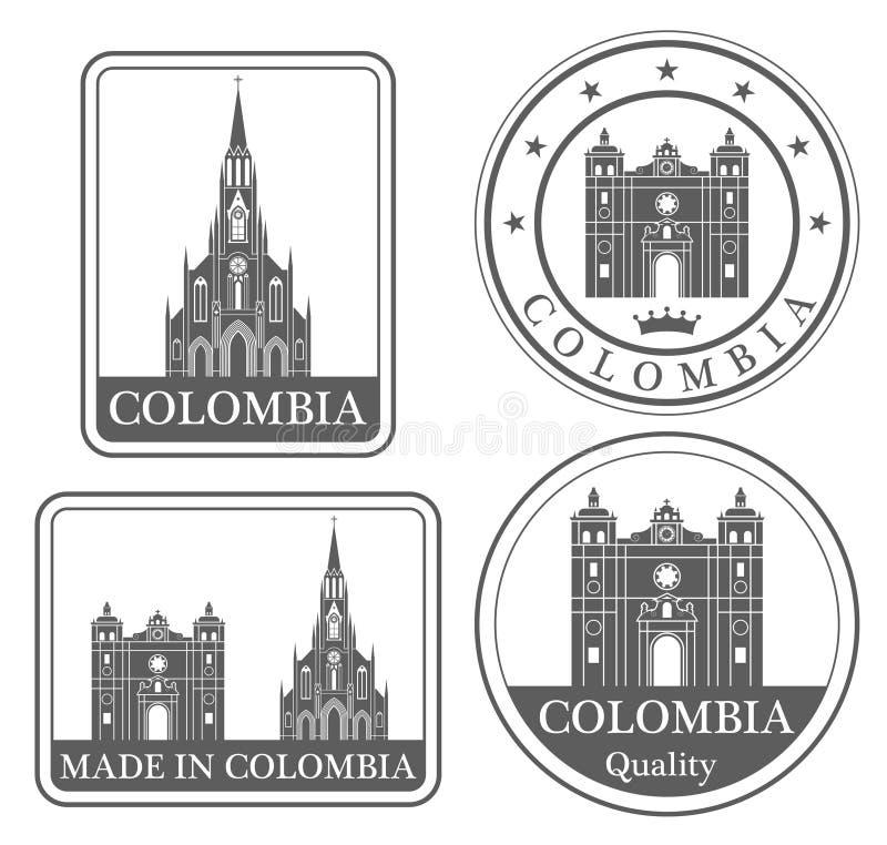 Bogotá abstrata ilustração stock
