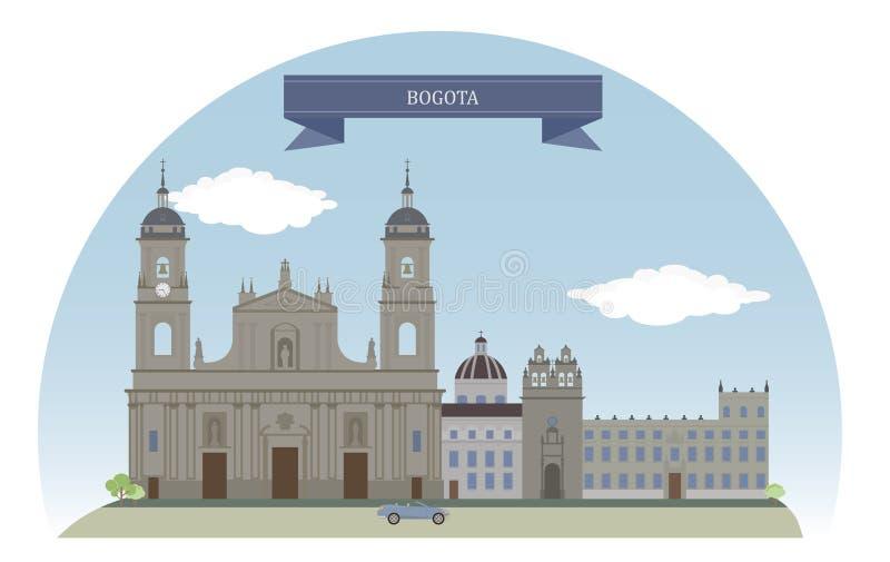 Bogotá, Colômbia ilustração do vetor