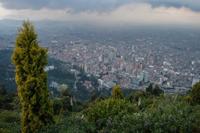 Bogotá do centro da parte superior fotos de stock