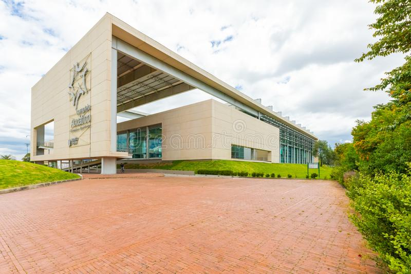 Bogotá Simon Bolivar cobriu a opinião externo da associação fotografia de stock royalty free