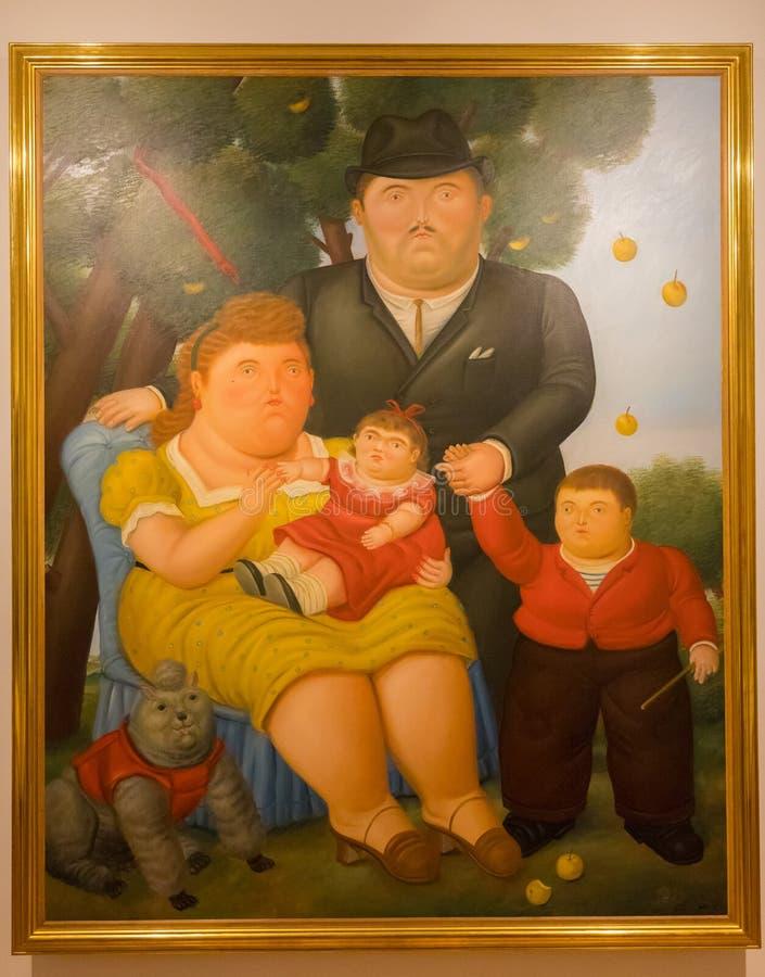Bogota Botero muzealny obrazek tytułujący rodzina obrazy royalty free