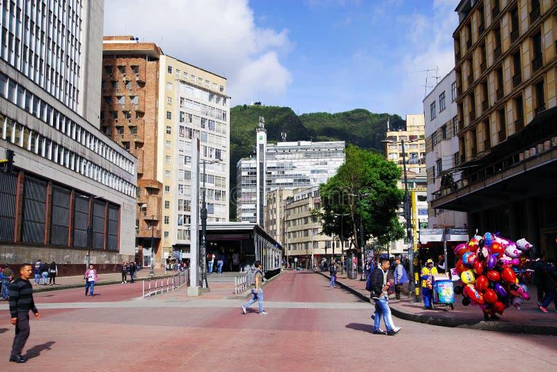 BOGOTA, COLOMBIA, JUNE 28, 2019: The beautiful Avenue Jimenez De Quesada. Street scene in Bogota stock image