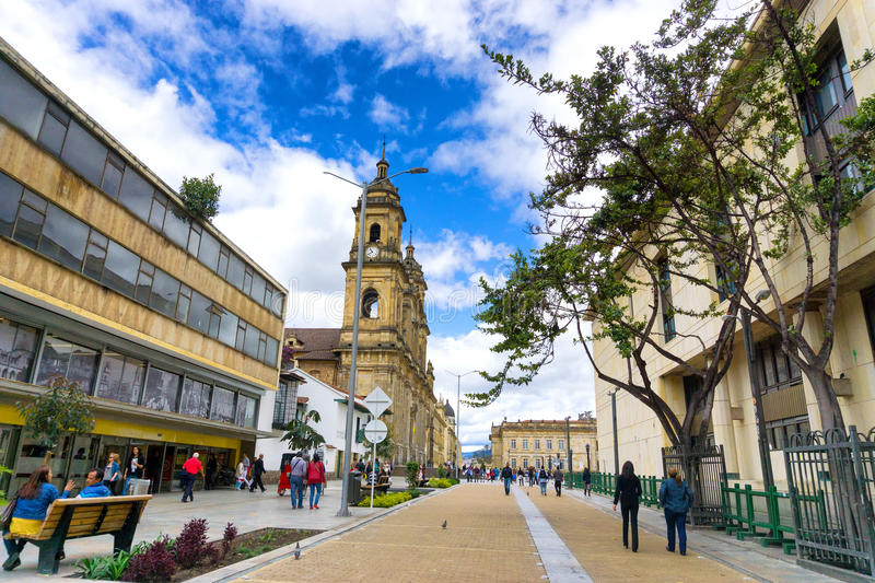 Bogota Cathedral View stock images