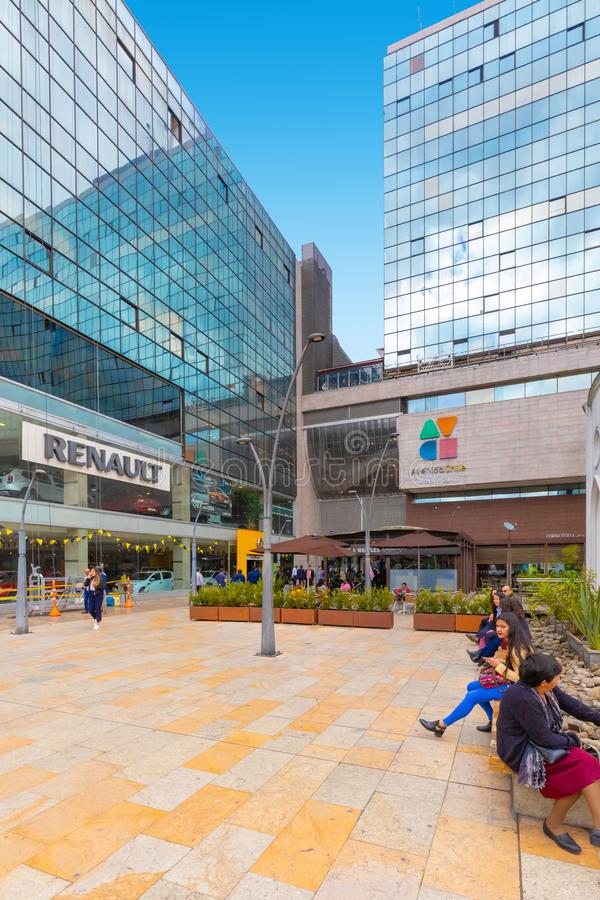 Bogota city commercial and financial center entrance stock photo