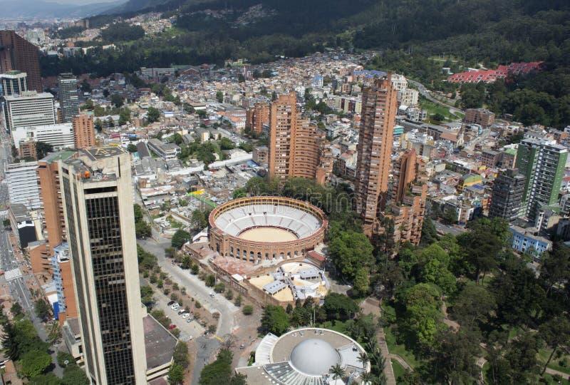BOGOTA, COLOMBIA - JANUARI 15, 2017: Een mening van Bogota, planetari stock foto
