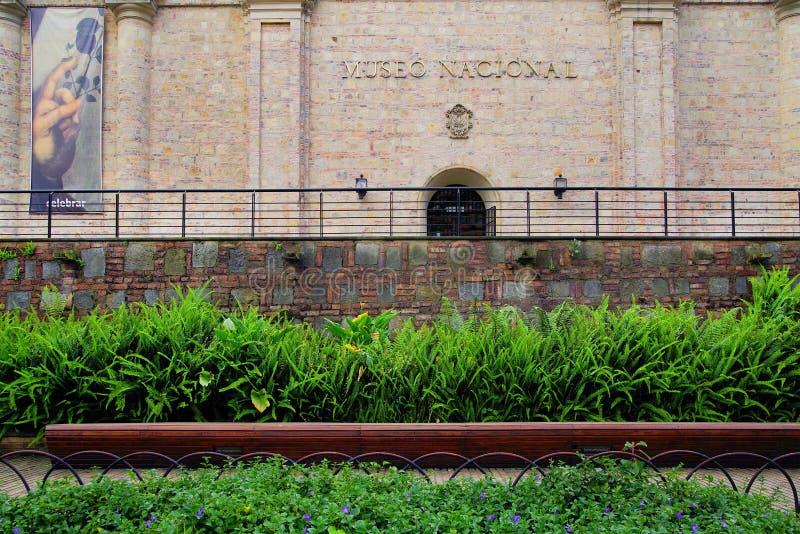 BOGOTA COLOMBIA, JUNI 28, 2019: Det nationella museet i Bogota arkivbilder