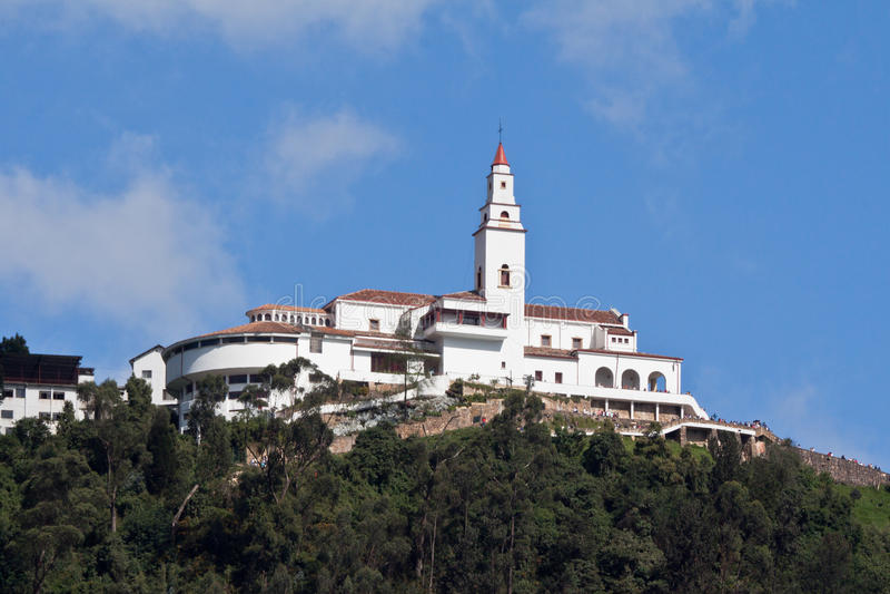 bogota Colombia monserrate sanktuarium obrazy royalty free