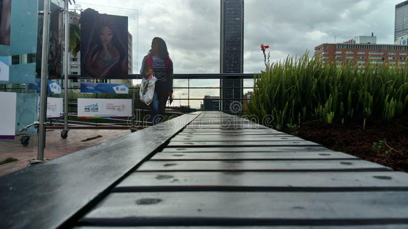 Bogota DowntownÂs parkerar arkivbild