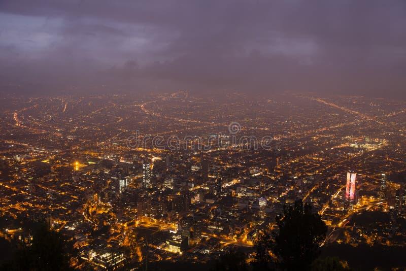 Bogota Dusk Skyline royalty free stock image