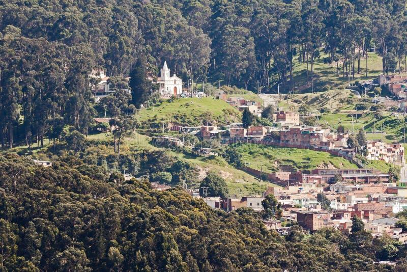 Bogota-Hügel Kolumbien lizenzfreie stockfotos
