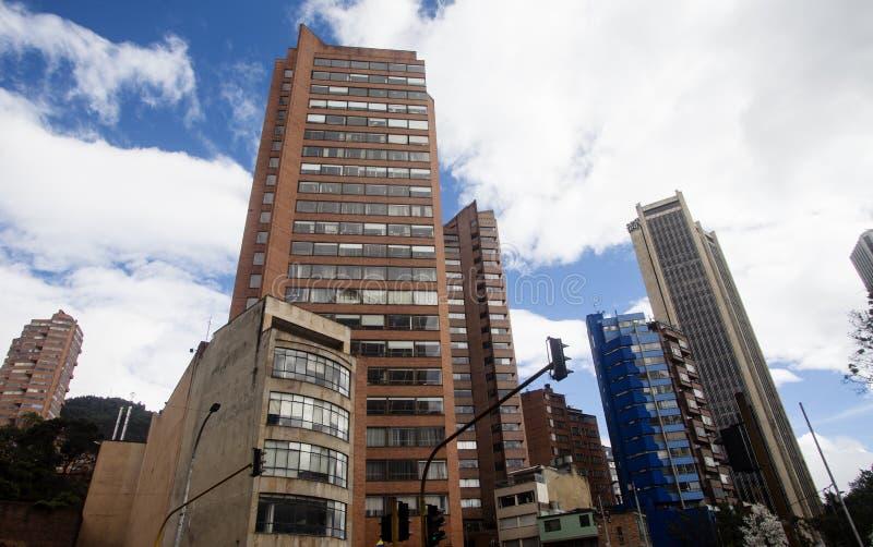 Bogota i stadens centrum byggnader arkivbilder