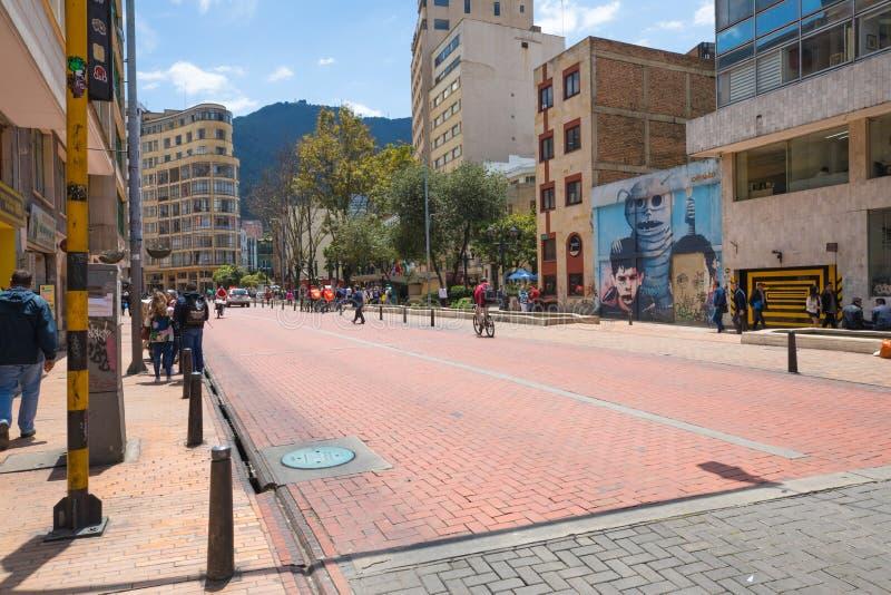 Bogota Jimenez Quezada alei losu angeles Candelaria okręg obraz stock