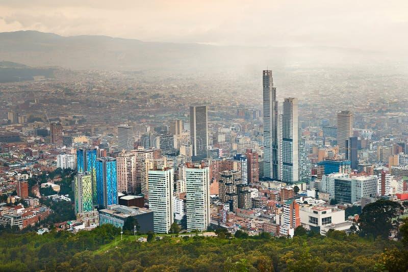 Bogota, Kolumbia chmurny dzień obrazy stock