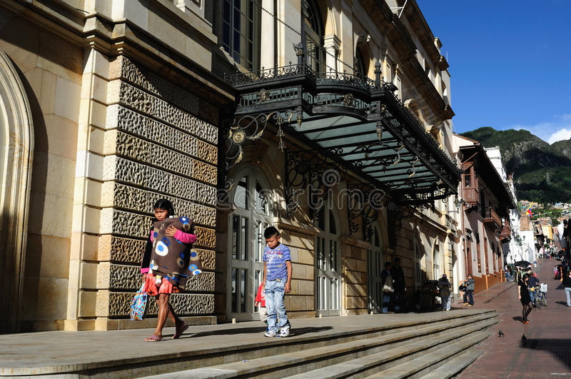 Bogota - La Candelaria immagini stock libere da diritti