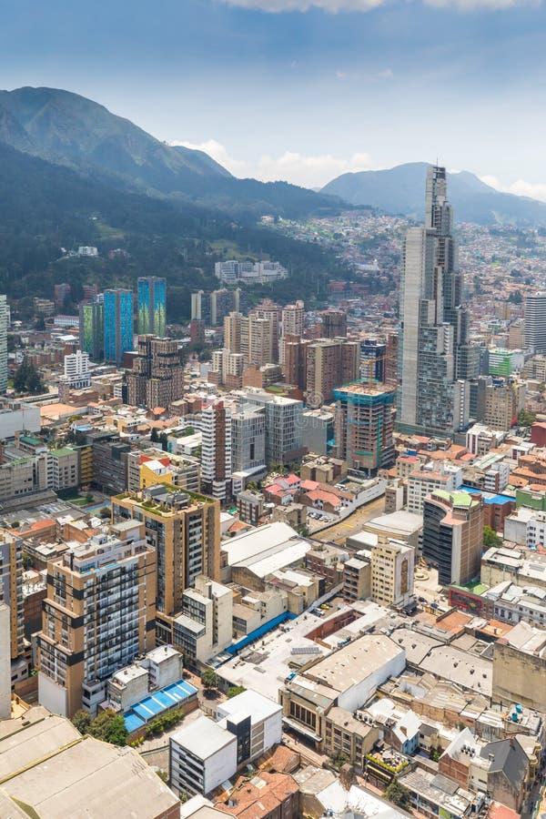 Bogota La Candelaria district aerial view royalty free stock photo