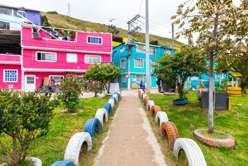 Bogota miasta wejście okręg dzwonił Los Puentes zdjęcia stock