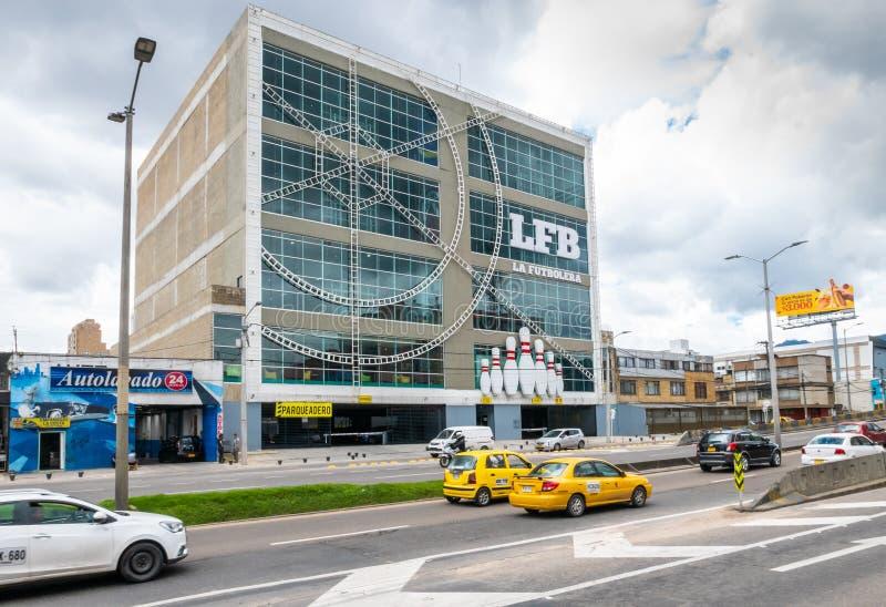 Bogota multi purpose sports building called La Futbolera exterior view royalty free stock image