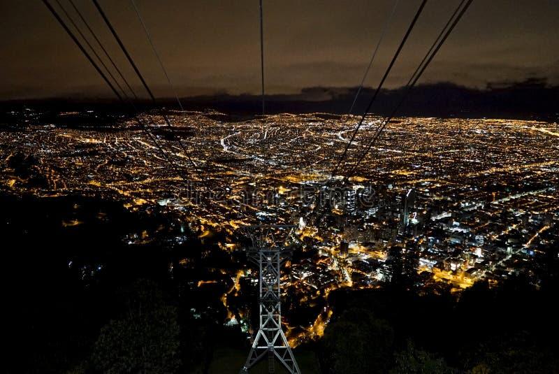 Bogota-Nachtlichter stockfoto