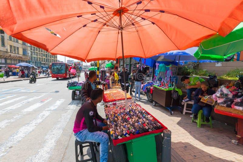 Bogota opóźnia w Jimenez Quesada aleja w Santa Ines okręgu fotografia royalty free