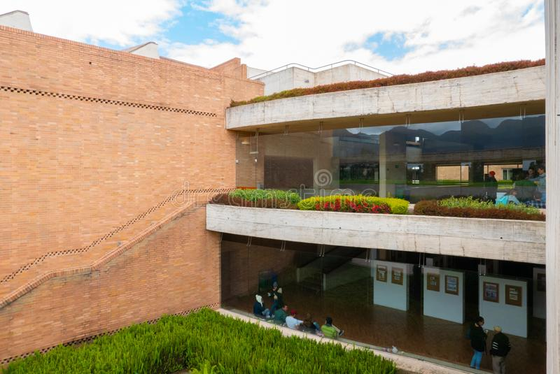 Bogota public library Virgilio Barco stock photo