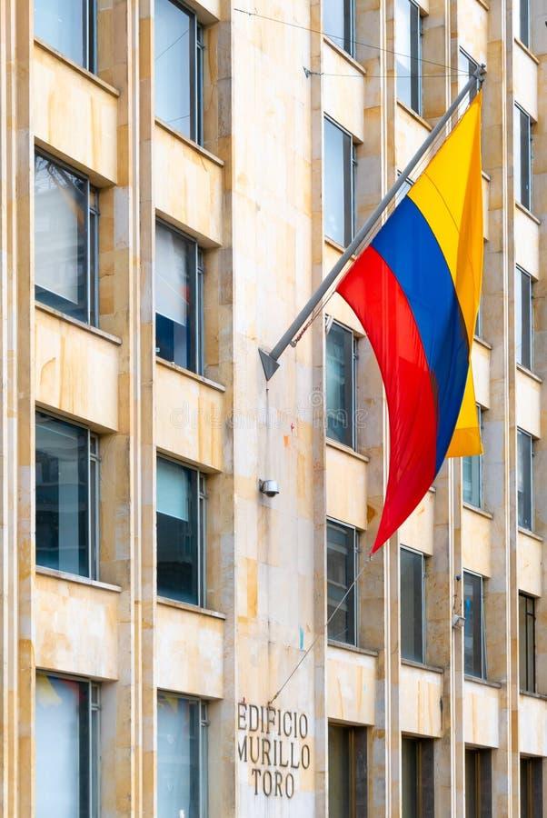 Bogota stadsflagga av Colombia royaltyfri foto