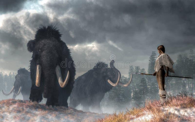 Bogowie zima ilustracja wektor