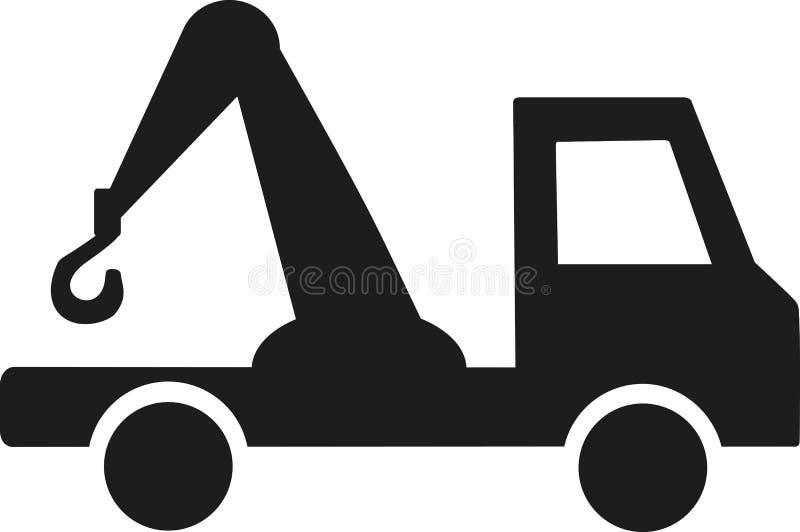 Bogsera bilsymbolen vektor illustrationer