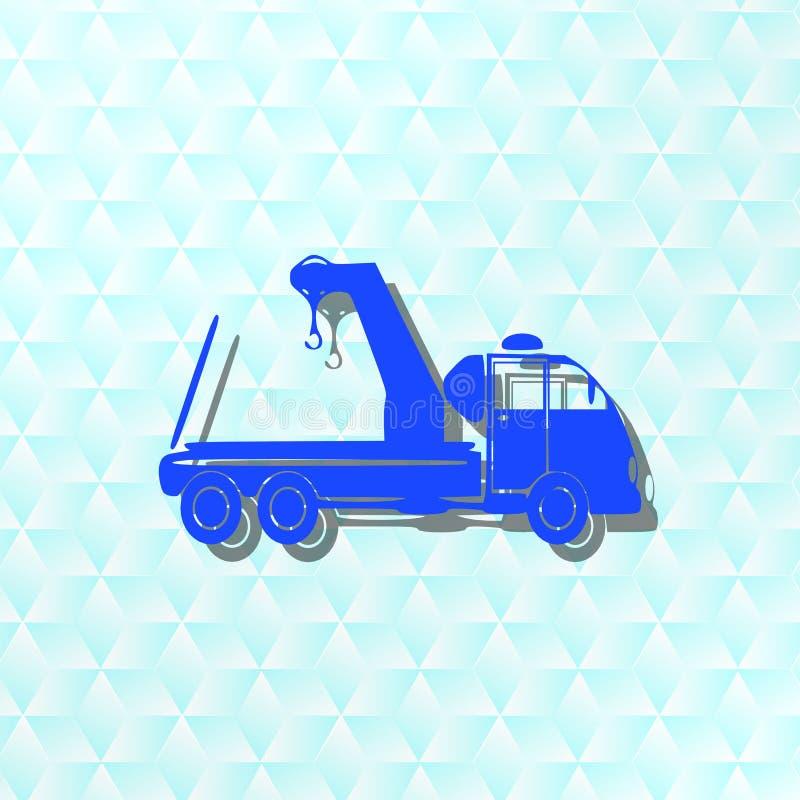 Bogsera lastbilen, symbol, tecken, bästa illustration 3D stock illustrationer