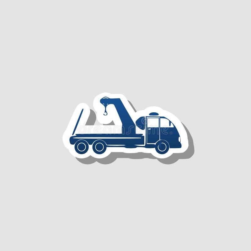 Bogsera lastbilsymbolen, tecken, bästa illustration 3D stock illustrationer